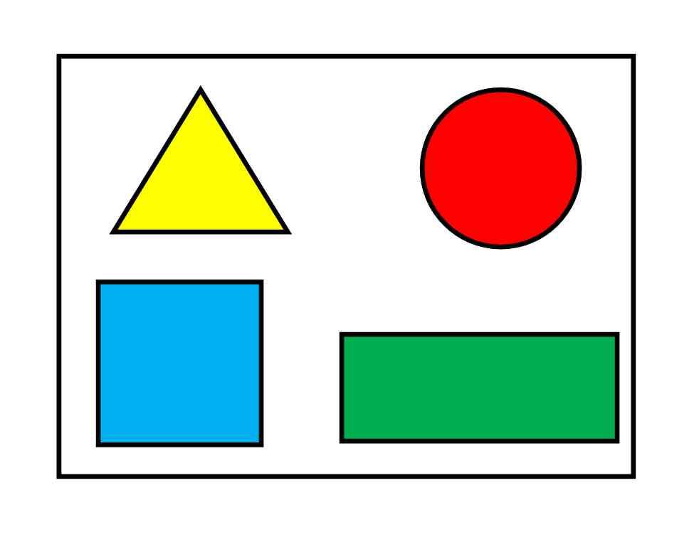 Картинки предметов квадратной формы для детей